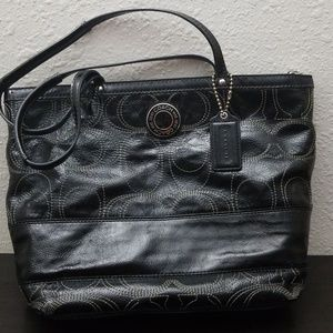 Coach Handbag Black Patton Leather